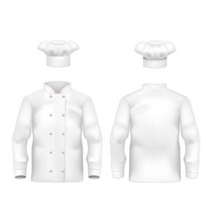 realistic detailed 3d white blank culinary vector image