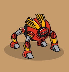 Red Bugs Robot vector