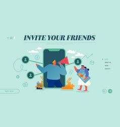 Referral marketing affiliate program partnership vector