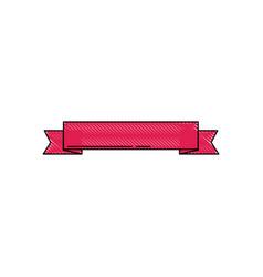 ribbon banner ornament decoration blank icon vector image