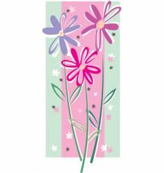 rose flower background vector image