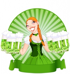 Saint Patrick's day girl vector image