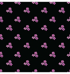Seamless floral pattern with groups of violet vector