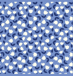 Seamless pattern with stylized small flowers vector