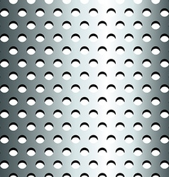 Seamless stainless metallic grid pattern vector image