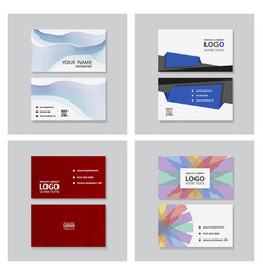 Set of modern simple light business card template vector