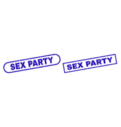 Sex party blue rectangle watermark with unclean vector