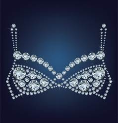 Shiny bra made up a lot of diamonds vector