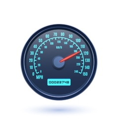 Speedometer icon isolated on white background vector