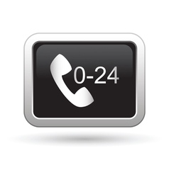 Support center call 24 hours icon vector image