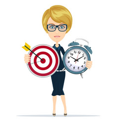time management and targeting concept vector image