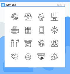 User interface pack 16 basic outlines gift vector