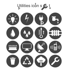 Utilities icon set vector