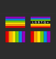 various lgbtq signs set on dark background vector image