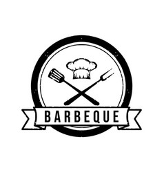 vintage retro stamp barbecue logo design vector image