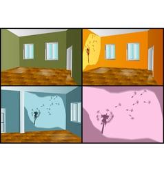 Walls decorating vector