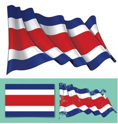 Waving flag of costa rica vector