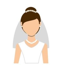 Wife wedding dress isolated icon design vector