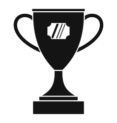 Winner cup icon simple style vector