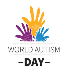 world autism day medicine and mental health vector image