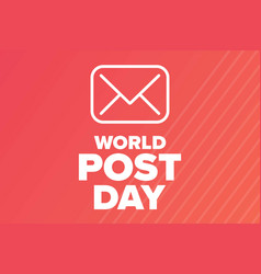 world post day october holiday concept vector image
