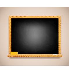 Black Chalkboard on Light Brown Wall vector image vector image