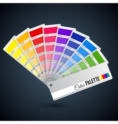 Color palette guide Catalogue cards vector image