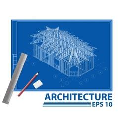 House blueprint vector