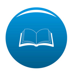 book information icon blue vector image