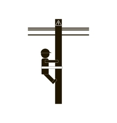 Electrician Worker Icon vector image