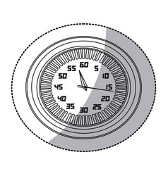figure round clock icon vector image