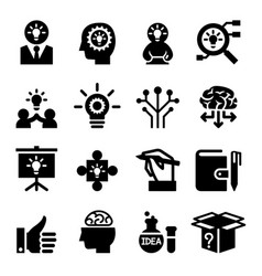 idea icon set vector image