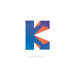 letter k logo design template elements paper vector image
