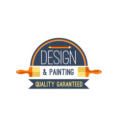 painting brush and paint design icon vector image