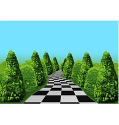 wonderland road vector image vector image