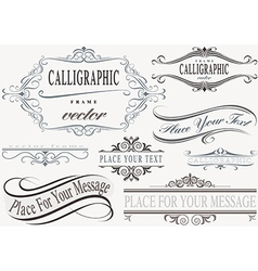 Calligraphic Frame Set vector image vector image