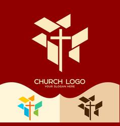 Cross of the lord and savior jesus christ vector