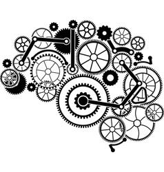 Gear brain vector