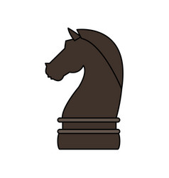 knight chess piece icon image vector image vector image