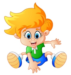 little boy dance vector image