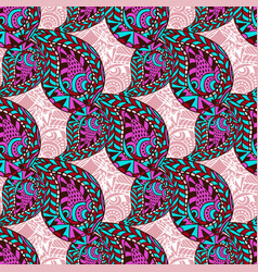 pink paisley ornate seamless pattern seamless vector image vector image