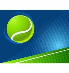 sport background tennis vector image vector image