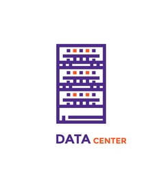 data center server icon vector image