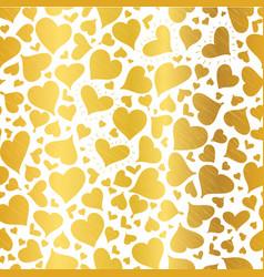 golden hearts seamless pattern design vector image vector image
