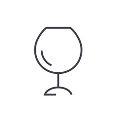 wine glassesalcochol line icon sig vector image vector image