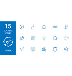 15 mark icons vector image