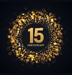 15 years anniversary isolated design vector image