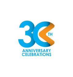 30 years anniversary celebrating template design vector