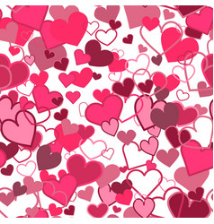 abstract hearts seamless pattern vector image