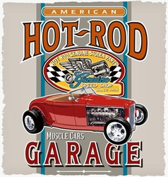 American car garage vector